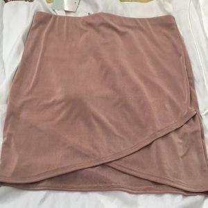 Maybe pink mini wrap skirt